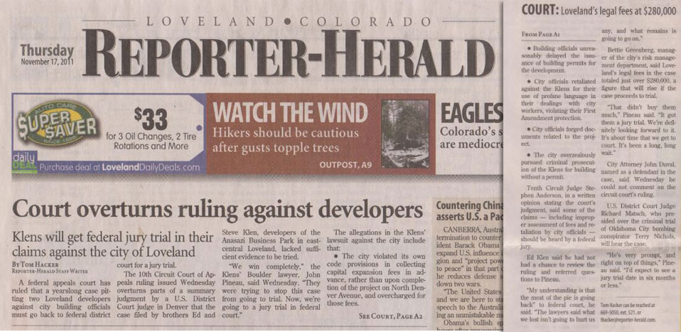Loveland Daily Reporter Herald Picture